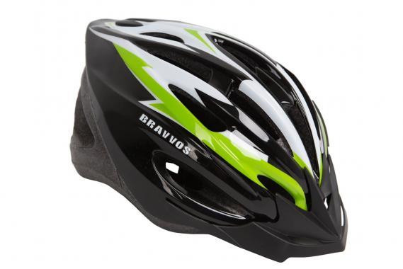 фото Шлем велосипедный Bravvos Черно-желтый
