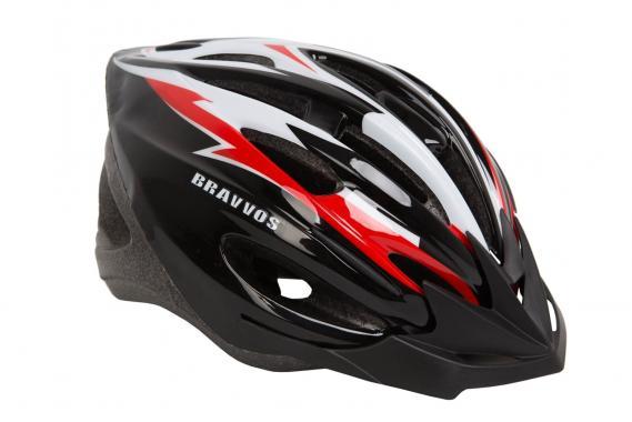 фото Шлем велосипедный Bravvos Черно-красный