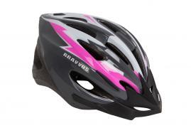 Шлем велосипедный Bravvos Черно-розовый
