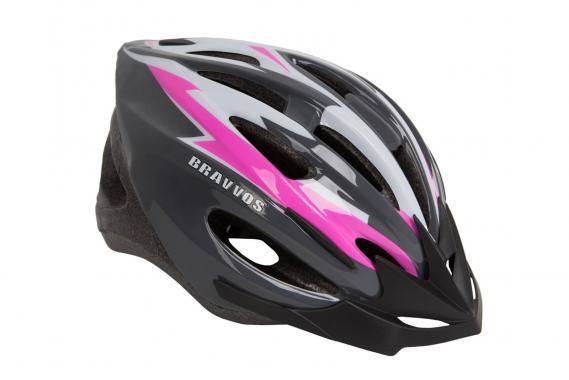 фото Шлем велосипедный Bravvos Черно-розовый