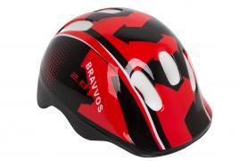 Шлем велосипедный Bravvos детский Черно-красный