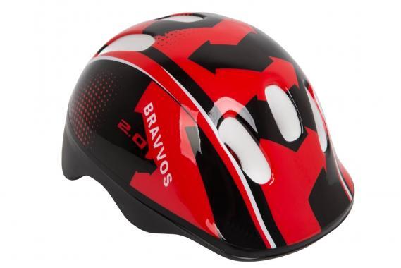 фото Шлем велосипедный Bravvos детский Черно-красный