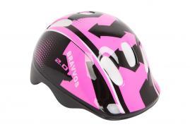 Шлем велосипедный Bravvos детский Черно-розовый