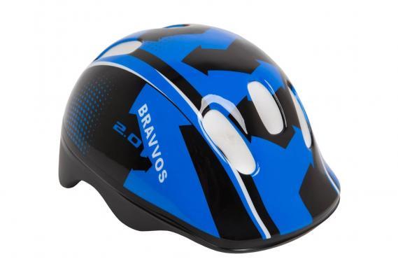 Шлем велосипедный Bravvos детский Черно-синий