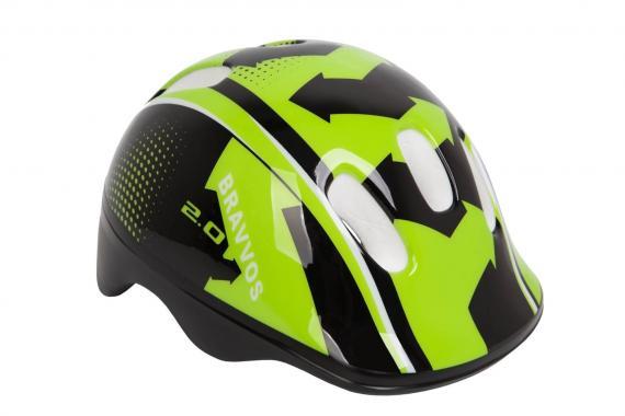 Фото Шлем велосипедный Bravvos детский Черно-зеленый