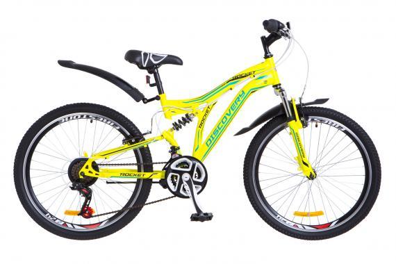 "Велосипед 24"" Discovery ROCKET двухподвес"